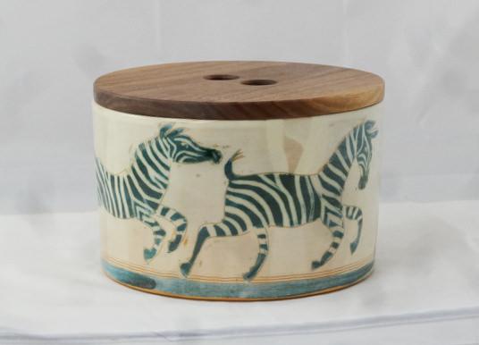 Brottopf m Holzdeckel,Zebra