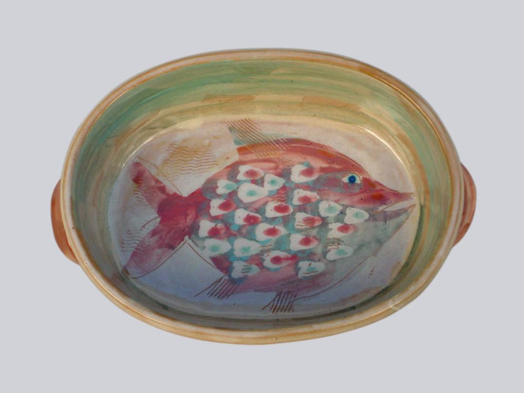 Reindl mit Fisch-rot