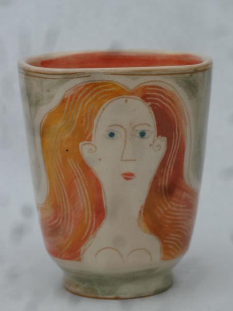 4 eckige vase _Dame