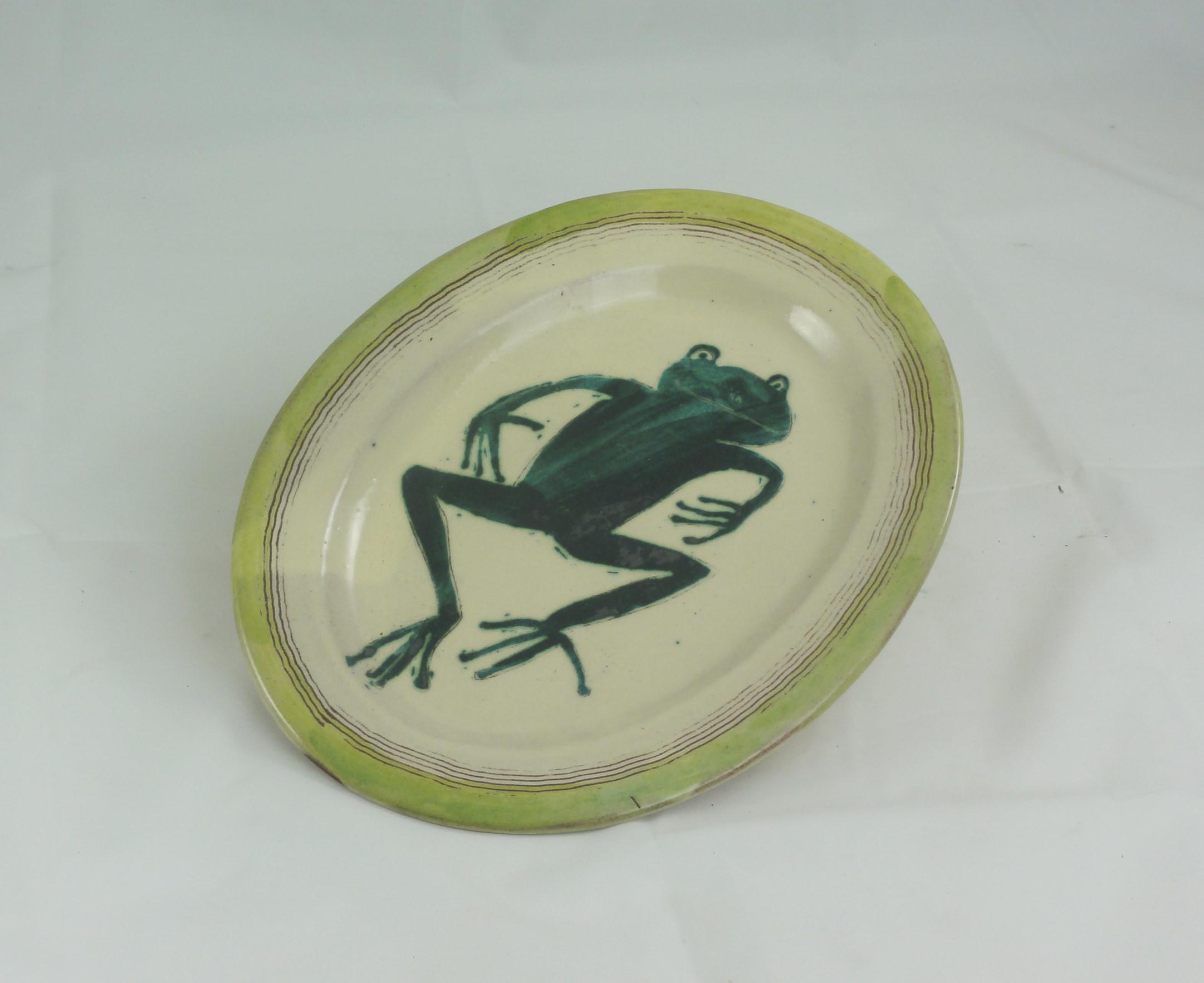 Tablett oval springender Frosch