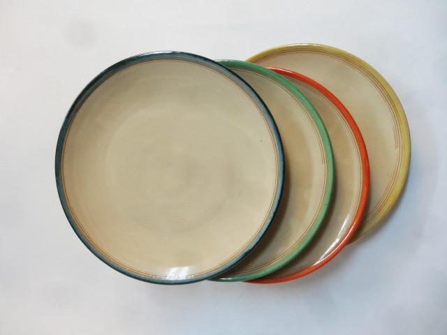 Kuchenteller in 4 Farben_ petrol, mintgrn,rot,limone