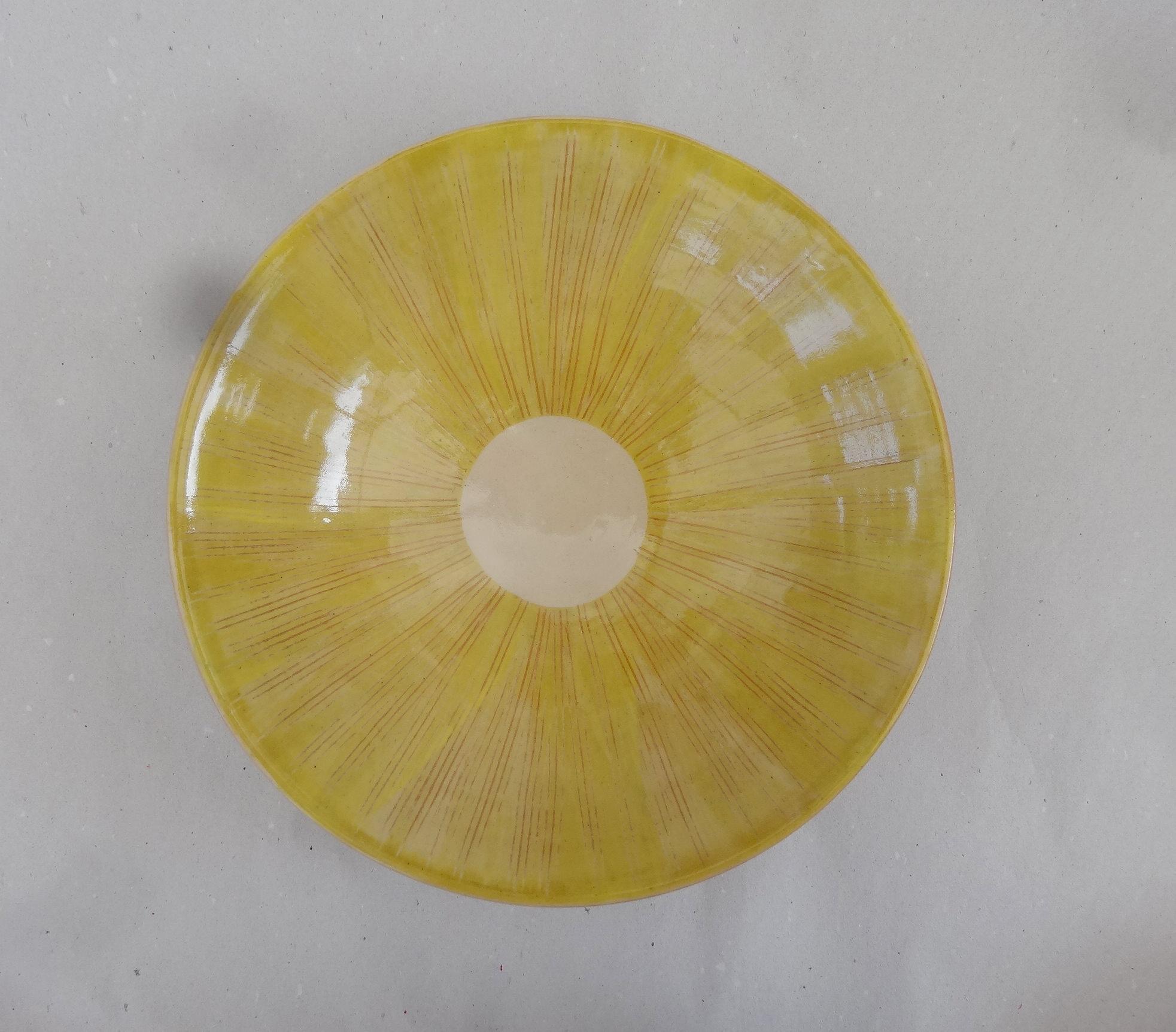Tiefer Teller limone-zitrone gekämmt G