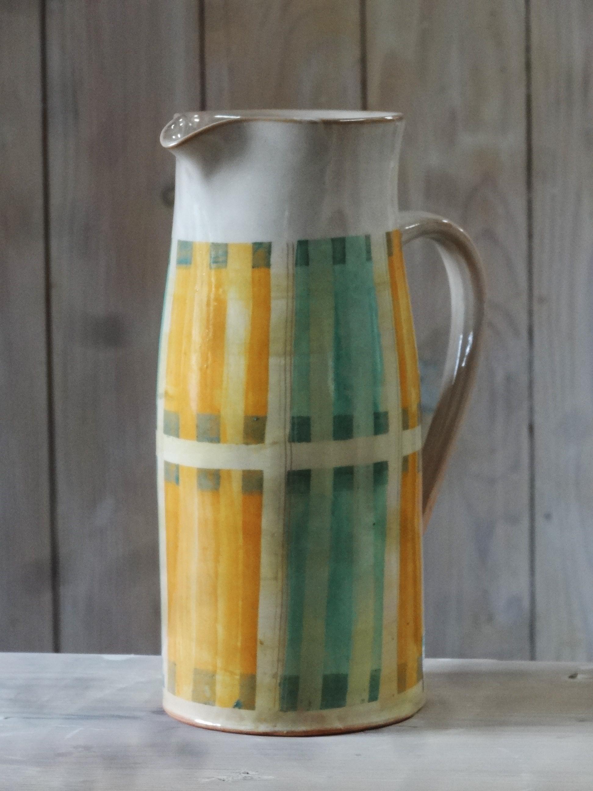 Dekor gewebte kastl orange-grün Kopie heller