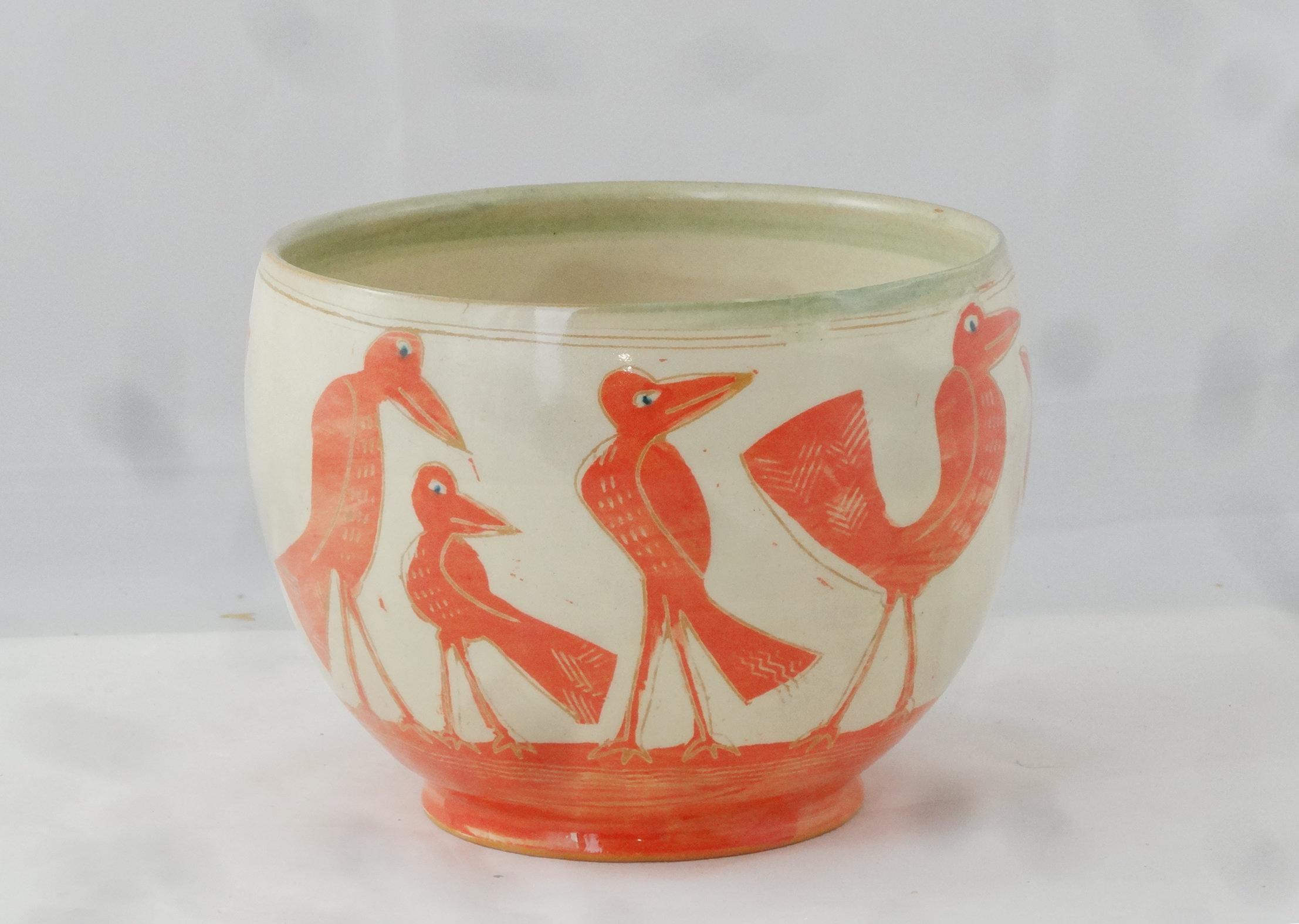 Vogelschüssel rot