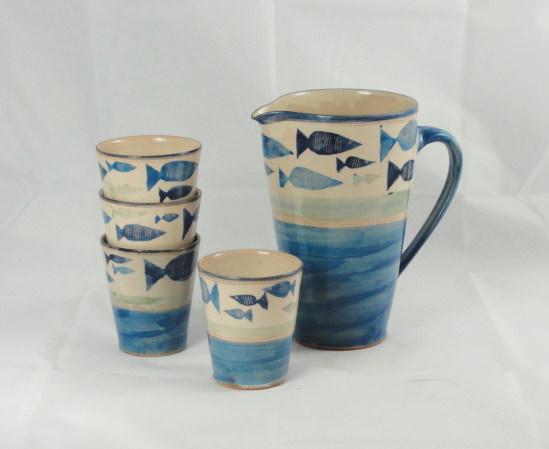 Saftservice, 1,5l, Fischband blau