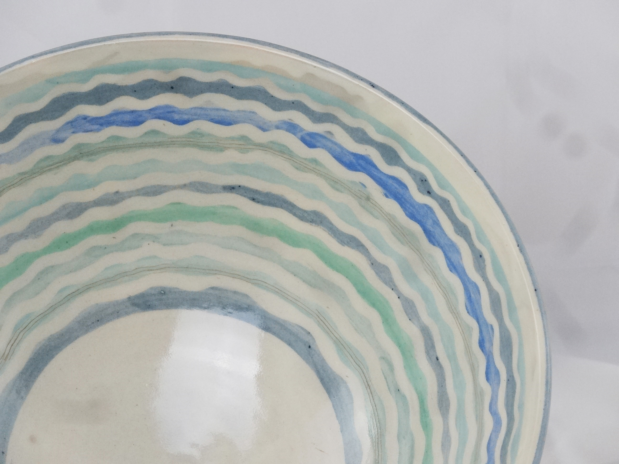 Dekor Welle Blautöne