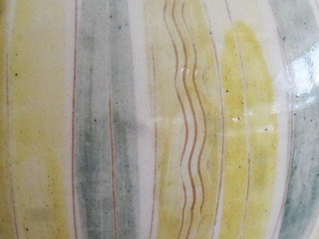 langes Blatt grau-limone-zitronr
