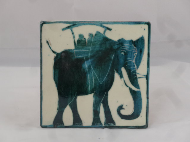 Fliese Elefant mit Leuten