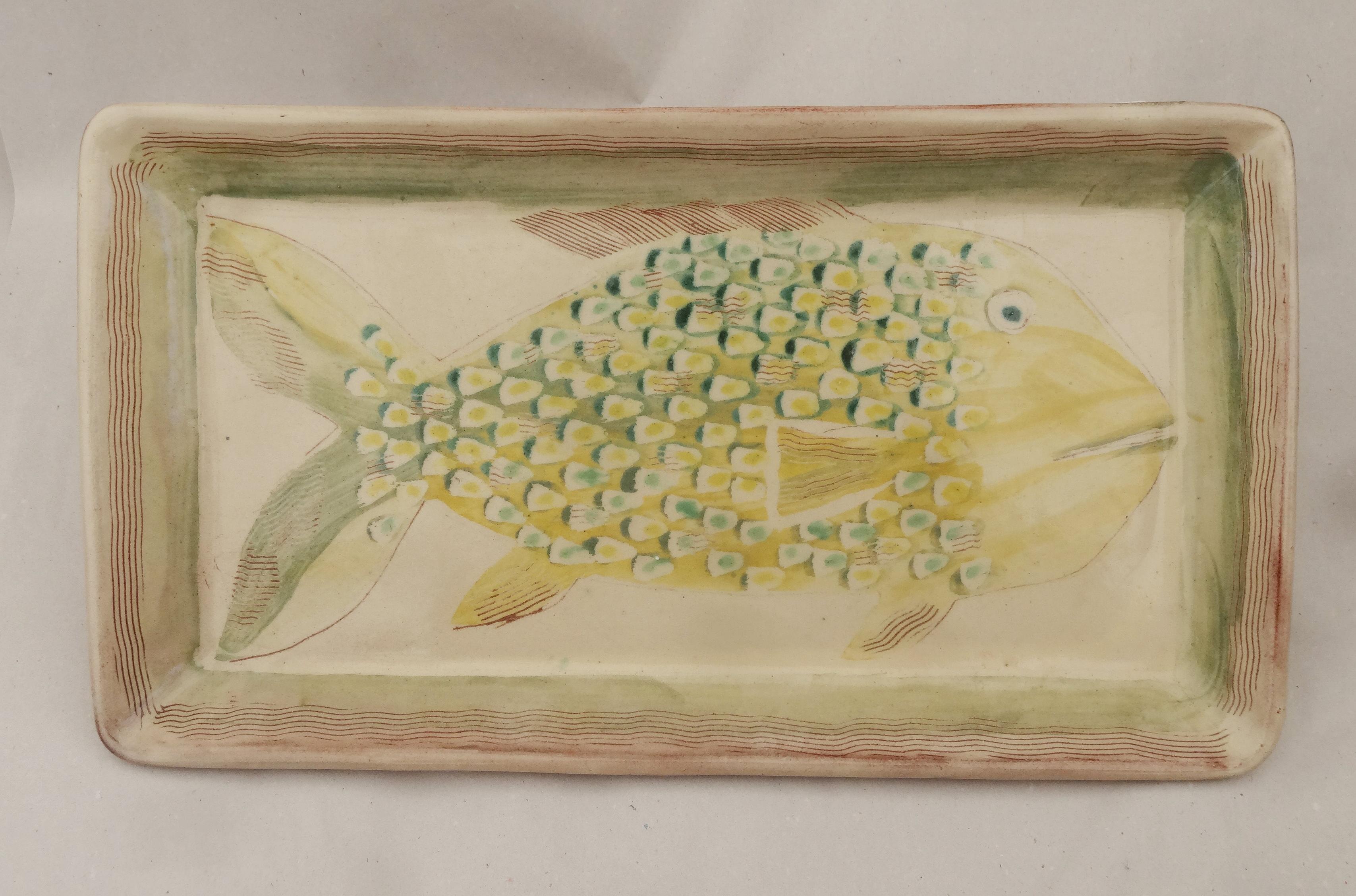 Tablett Fisch limone