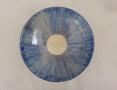 Tiefer Teller blau gekämmt,  21 u. 23,5 cm
