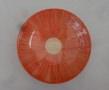 Tiefer Teller rot gekämmt, 21 u. 23,5 cm