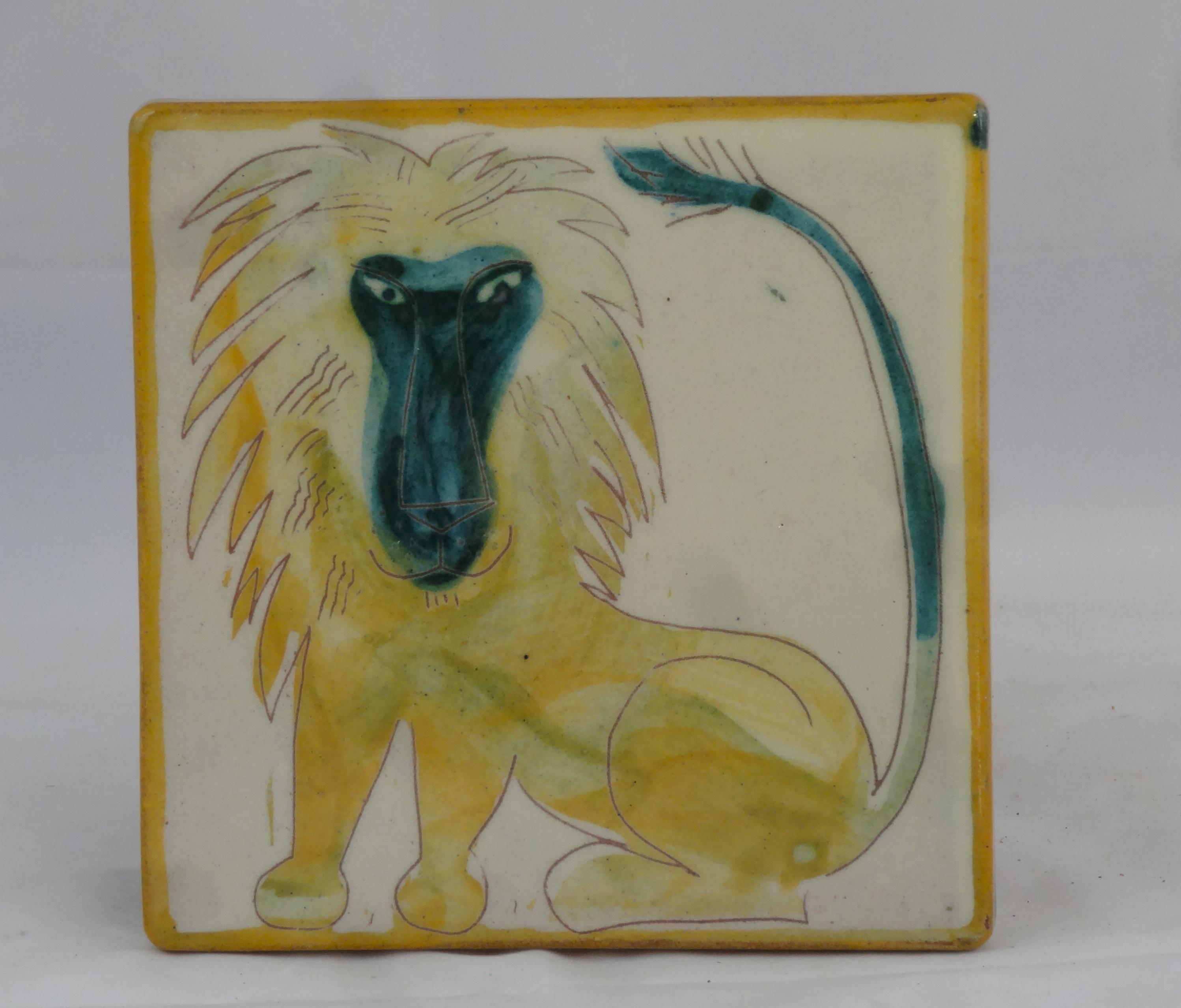 Fliese Löwe gelb