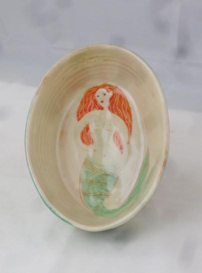ovale schale Meerjungfrau